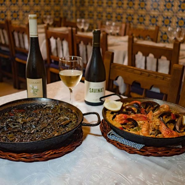 Black rice and paella
